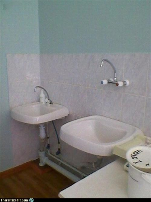 Some Faucets Aren't Afraid of Heights