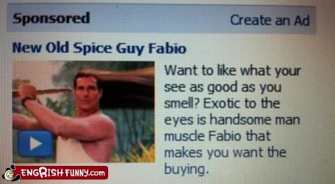 But Really, Fabio Makes me Want the Buying Anything!