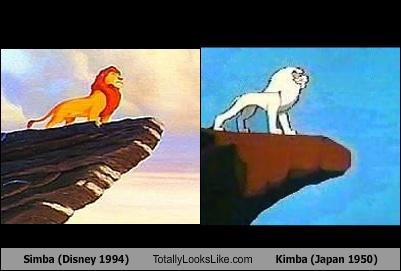 Simba (Disney 1994) Totally Looks Like Kimba (Japan 1950)