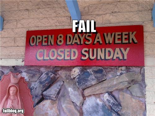 Days of Business FAIL