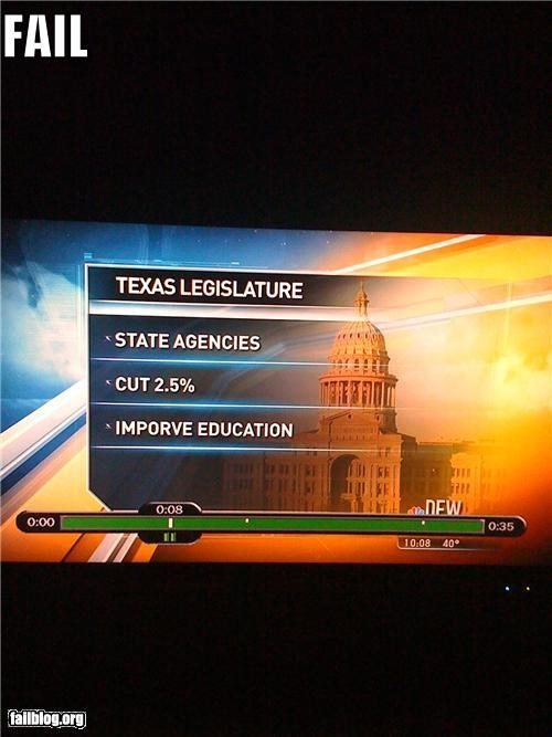 Education Improvement FAIL