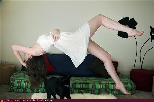 cat,floating,lady,magic,wtf