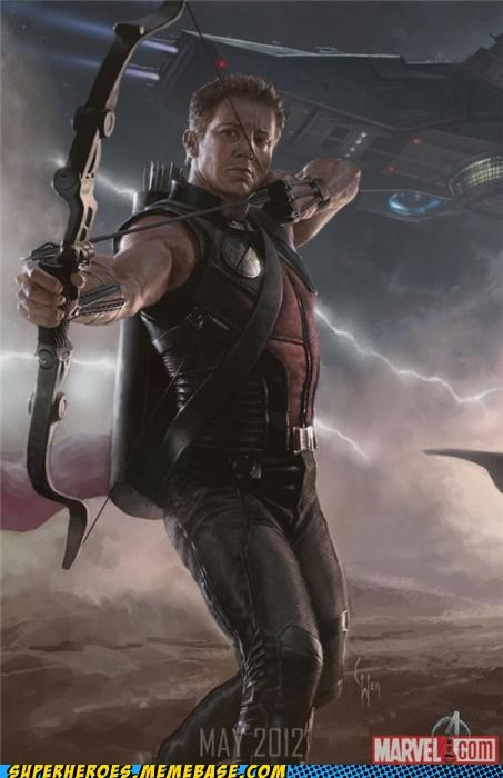 Avengers: Hawkeye is Revealed...don't worry he's wearing clothes...