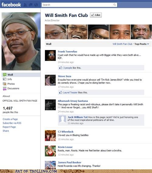 facebook,fan club,misquotes,will smith