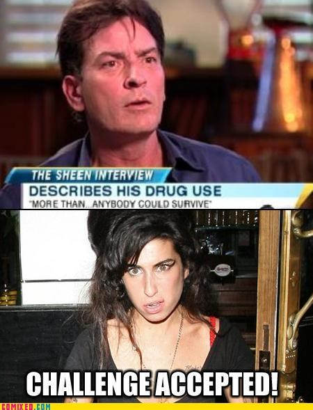 amy winehouse,celebutard,Charlie Sheen,drugs,rip