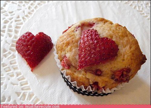 epicute,heart,muffins,strawberry