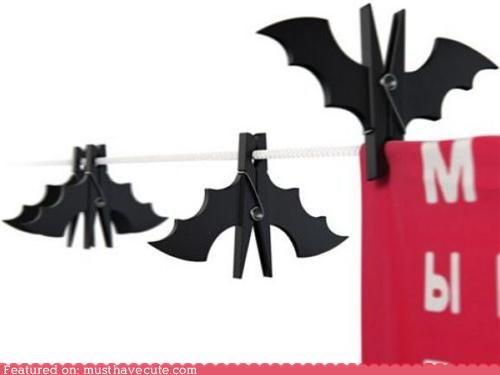 bats,black,clothespins