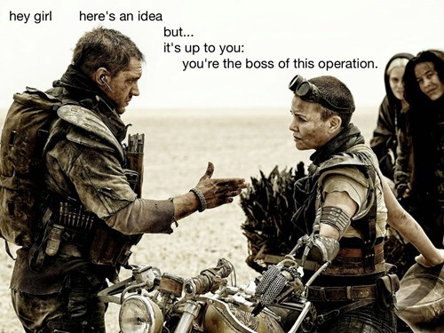 Feminist Mad Max Explores Equality on Fury Road. In Meme Form.