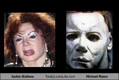 Jackie Stallone Totally Looks Like Michael Myers
