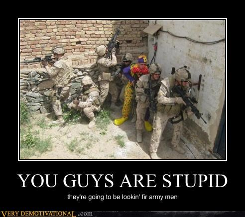 army men,clown,family guy,hilarious,soldiers