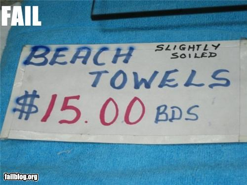 Towel Condition FAIL
