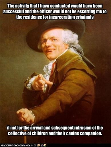 Joseph Ducreux hates those meddling kids