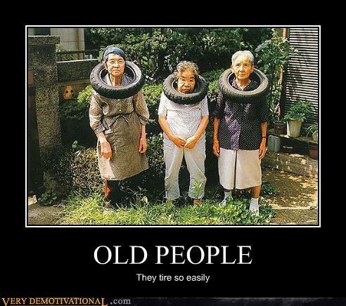 hilarious,homonym,old people,tires