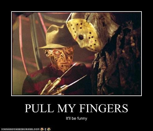 freddy krueger,horror movies,jason,pull my fingers,roflrazzi,villains
