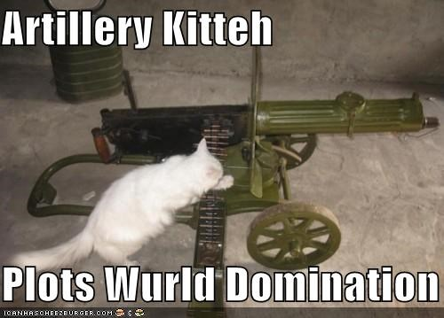 Artillery Kitteh   Plots Wurld Domination