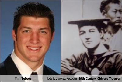 Tim Tebow (Quarterback for the Denver Broncos) Totally Looks Like This 19th Century Chinese Traveler