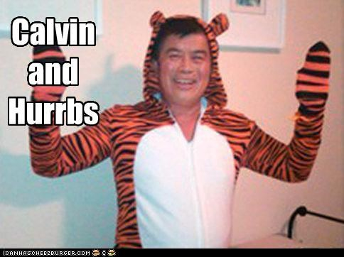 calvin and hobbes,costume,david wu,derp,political pictures,politicians,Pundit Kitchen,tiger,Tiger suit