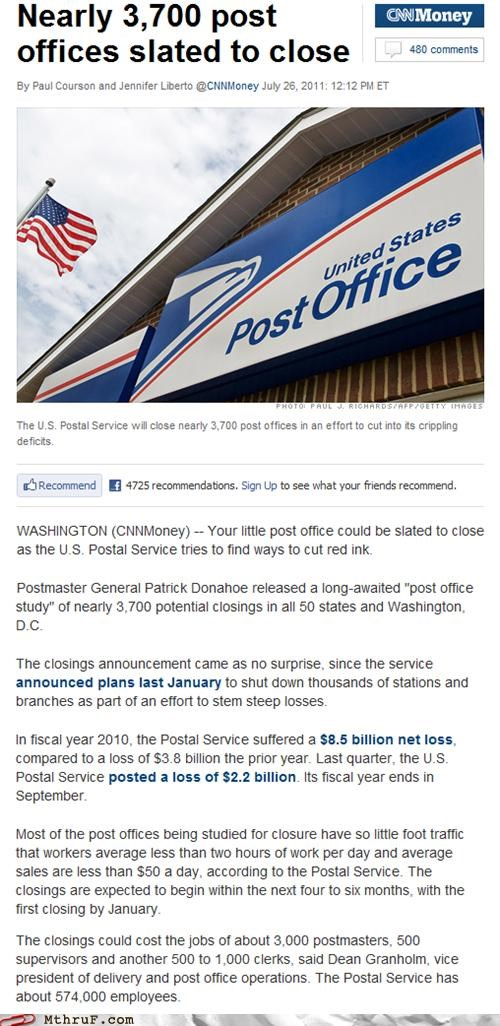 Today in Failing Businesses: The U.S. Postal Service