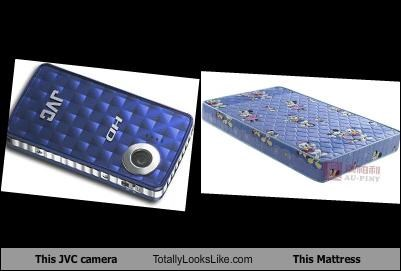 This JVC camera Totally Looks Like This Mattress
