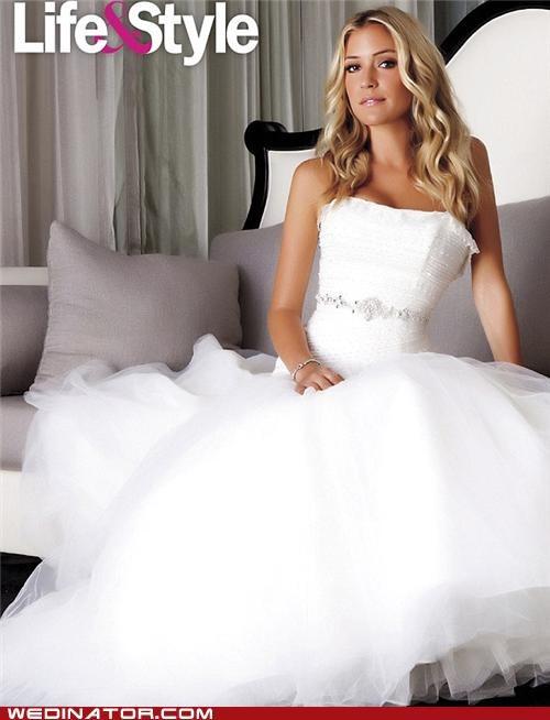 celebrity weddings,funny wedding photos,Kristin Cavallari,wedding dress