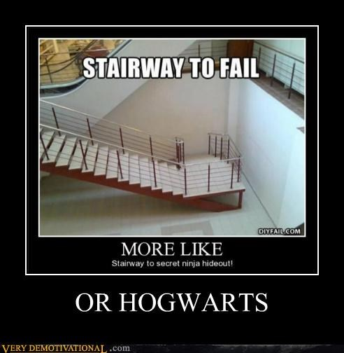 Harry Potter,hilarious,Hogwarts,stairs fail