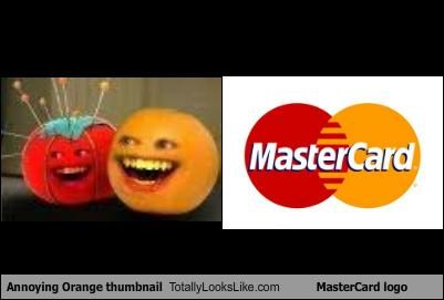 Annoying Orange Thumbnail Totally Looks Like MasterCard Logo