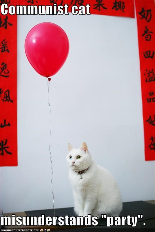 Balloons,communism,lolcats,parties,politics,white