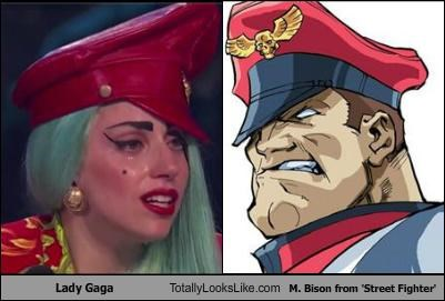 Hall of Fame,hat,lady gaga,m-bison,musicians,red hat,singers,Street fighter,video games
