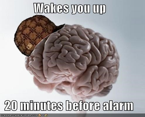 Scumbag Brain: Go Back to Sleep and Never Wake Up