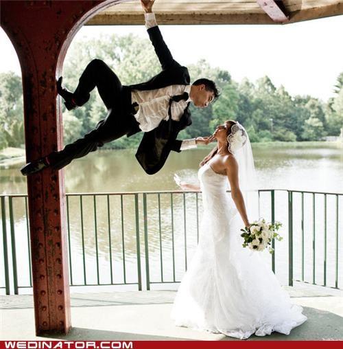 bride,funny wedding photos,groom,ninjas