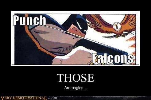batman,eagles,falcons,hilarious,punch