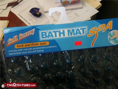 Bath Mat: The Bath Mat with that Fresh, Full Funny Taste
