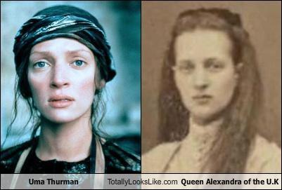 actors,actresses,political,Queen Alexandra,royalty,uma thurman