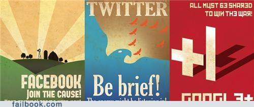 facebook,google,photos,posters,propaganda,twitter,win