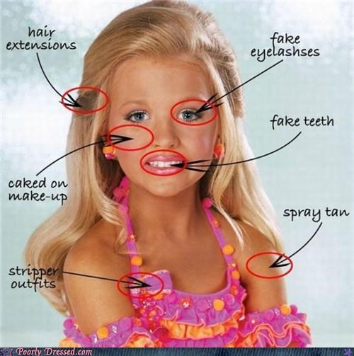 child beauty pageants,child models,children,Extensions,fake,Hall of Fame,makeup