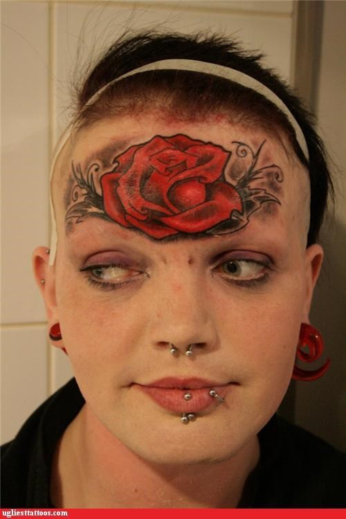 face tats,flowers,piercings