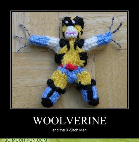 homophone,knitting,literalism,prefix,wolverine,wool,x men