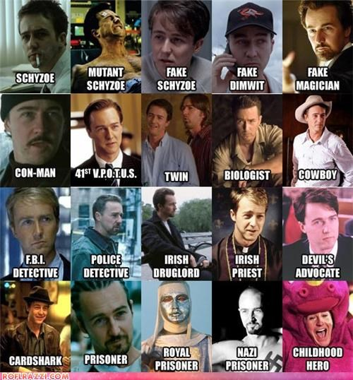 The Many Faces Of Edward Norton