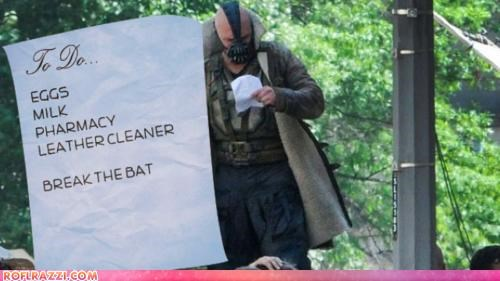 "Bane's ""To Do"" List..."
