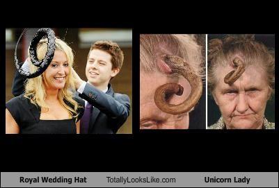hat,horn,royal wedding,spiral,twirl,unicorn lady