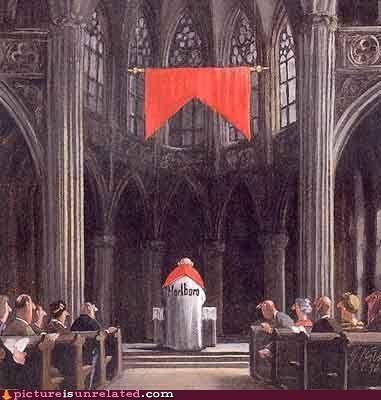 Ad,church,cigarettes,marlboro,priest,wtf