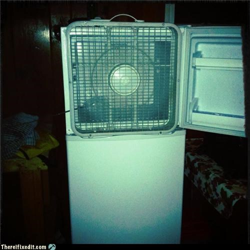 air conditioner,dual use,fan,fridge,poll