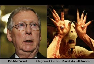 "Mitch McConnell Totally Looks Like ""Pan's Labyrinth"" Monster"