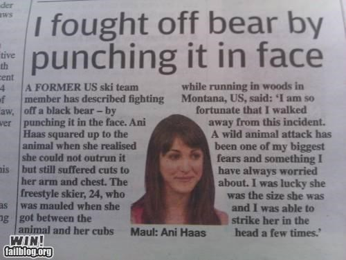 Completely Relevant News: Bear Fight!
