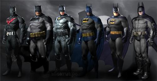 Arkham City Batsuits of the Day