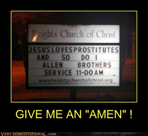 "GIVE ME AN ""AMEN"" !"