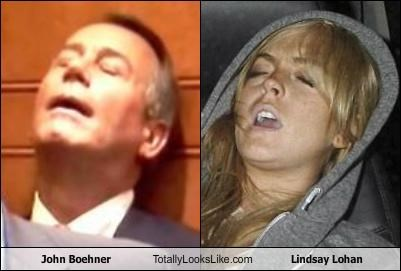 John Boehner Totally Looks Like Lindsay Lohan