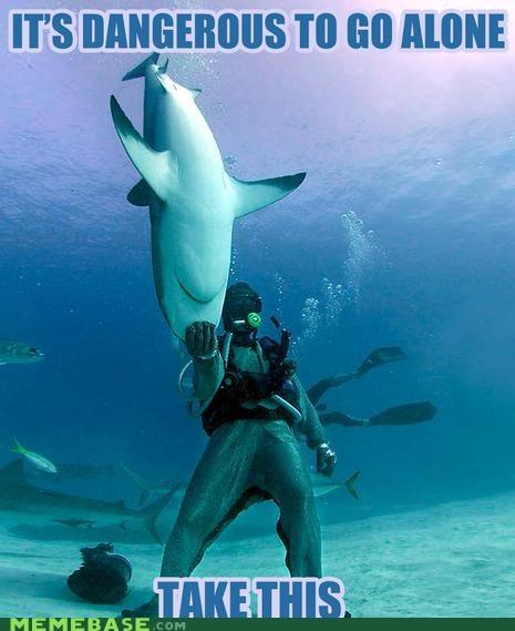 dangerous,Memes,ocean,shark,shark week,video games,zelda