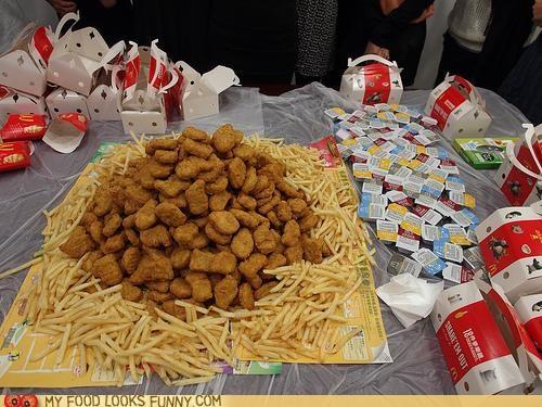 bird,chicken,chicken nuggets,fries,McDonald's