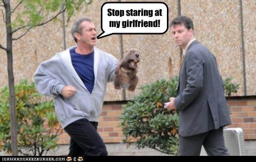actors,beaver,celeb,crazy,girlfriend,mel gibson,puppets,roflrazzi